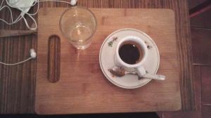 Água e café